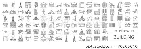 世界各地的建築圖標集 70206640