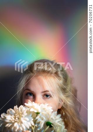 natural beauty organic cosmetology woman flowers 70206731