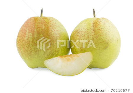 Chinese fragrant pear an isolated on white background 70210677