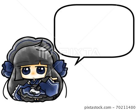 A cute blue Japanese loli Harajuku maid 70211480