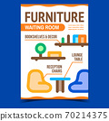 Waiting Room Furniture Promotional Banner Vector 70214375