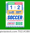 Soccer Tournament Creative Advertise Banner Vector 70214386
