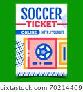 Soccer Ticket Online Purchase Promo Banner Vector 70214409