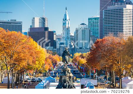 Philadelphia, Pennsylvania, USA at Benjamin Franklin Parkway 70219276