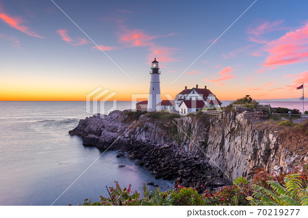 Portland, Maine, USA at Portland Head Light 70219277