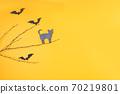 Halloween scene on orange background 70219801