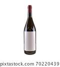 Wine bottle isolated on the white background mock up label 70220439