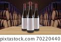 Wine bottles mock up copy space Template for advertising design branding identity 70220440