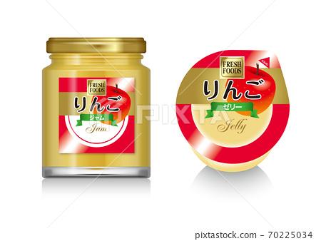 蘋果/果醬和果凍的插圖 70225034