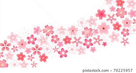 櫻花新年賀卡日本圖案背景 70225957