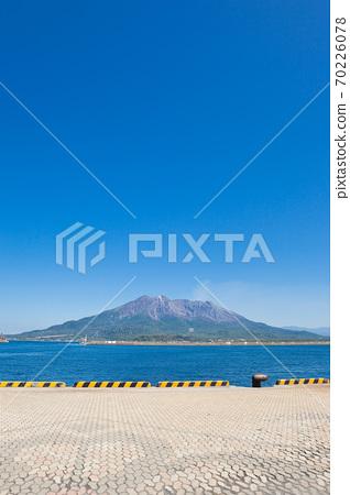 從鹿兒島北碼頭看到的櫻島 70226078