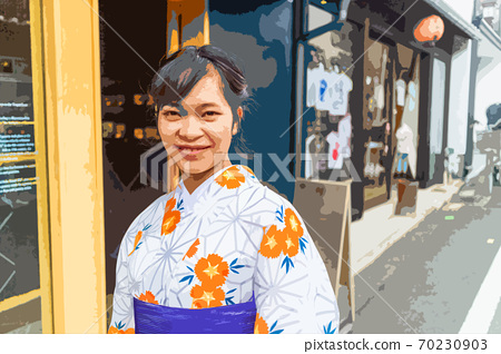 Young woman traveling in Kyoto 70230903