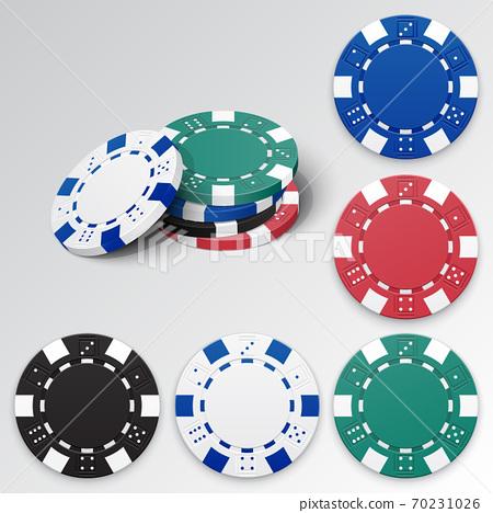 Set of gambling casino chips 70231026