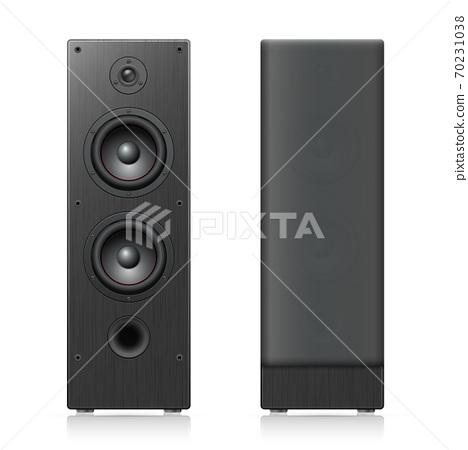 Black acoustic speakers 70231038