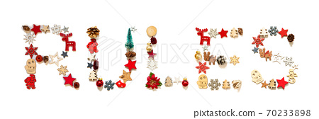 Colorful Christmas Decoration Letter Building Word Rules 70233898
