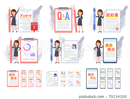 flat type business women_Various documents 70234100