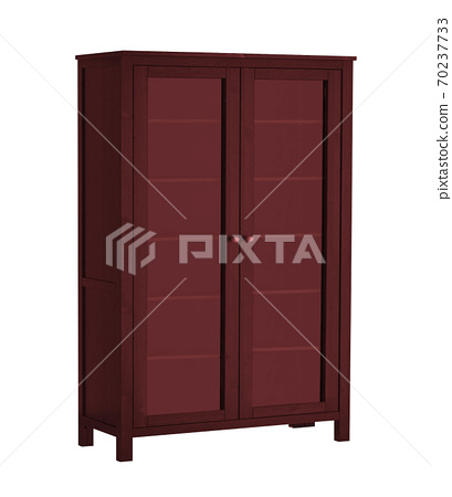 wooden cabinet isolated on white 70237733