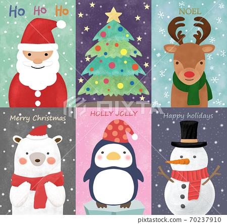 可愛的時尚聖誕節插圖集 70237910