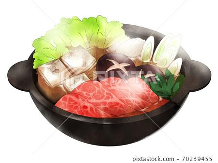 Sukiyaki (with steam) 70239455