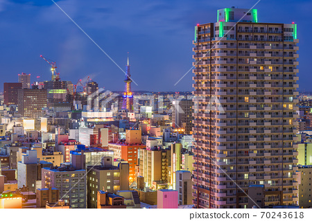 Sapporo, Hokkaido, Japan Cityscape 70243618