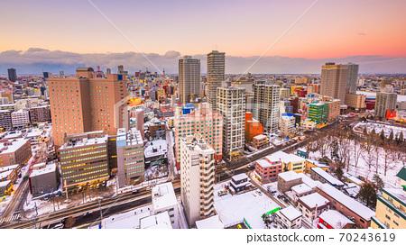 Sapporo, Hokkaido, Japan Cityscape 70243619