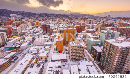 Sapporo, Japan Winter Skyoine 70243625