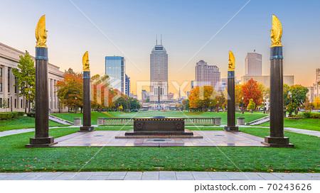 Indianapolis, Indiana, USA Downtown Park 70243626