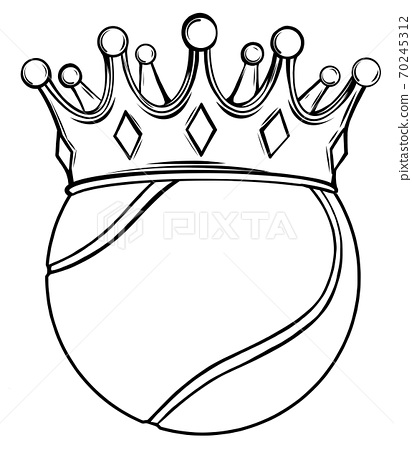 Tennis ball on white. Vector illustration design 70245312