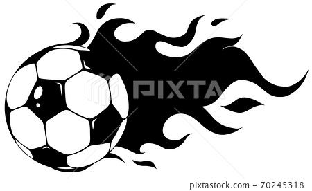 Vector isolated soccer ball. Vector football ball in black and white 70245318
