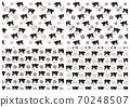 一套4種牛和花朵圖案(黑色和白色) 70248507