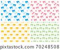 一套4牛和花朵圖案 70248508