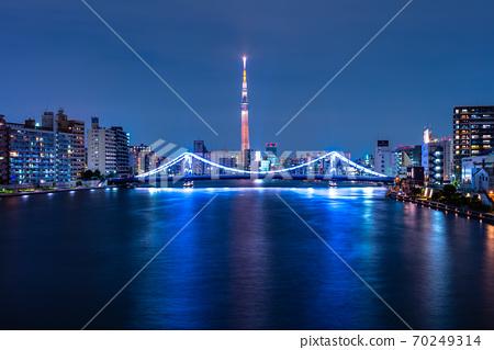 도쿄 스카이 트리와 清洲橋 70249314