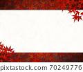 秋天的樹葉蔓延的框架 70249776
