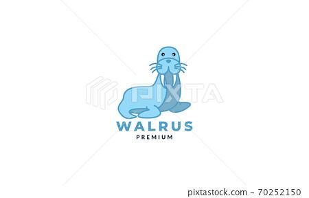 walrus or seal smile cute  logo icon illustration vector 70252150