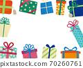 聖誕生日禮物框架 70260761