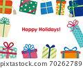 聖誕生日賀卡禮物框架 70262789