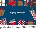 聖誕生日賀卡禮物框架 70262790
