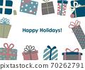 聖誕生日賀卡禮物框架 70262791