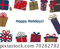 聖誕生日賀卡禮物框架 70262792