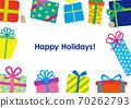 聖誕生日賀卡禮物框架 70262793