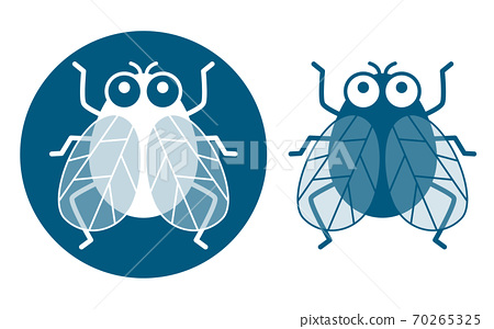 Cute fly icon set 70265325