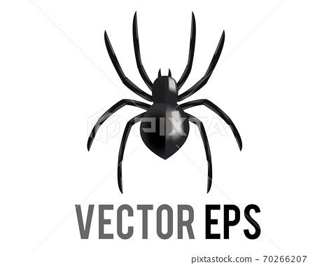 The vector black eight legged arachnid or spider icon 70266207