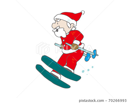 스키를 타는 산타 클로스 크리스마스 70266993