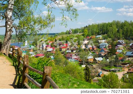 Rural landscape of Plyos, Russia 70271381