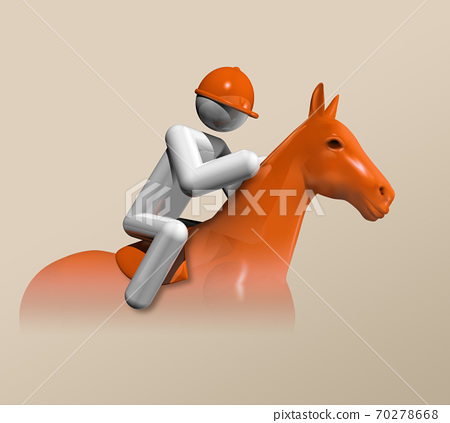 Equestrian Jumping 3D icon, Olympic sports 70278668