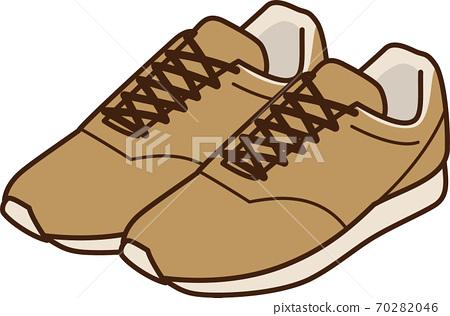 運動鞋(棕色)的圖像插圖 70282046