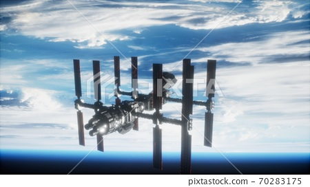 International Space Station in outer space over the planet Earth 70283175