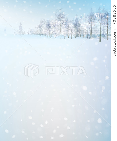 Vector  winter scene with forest background. Winter landscape. 70288535