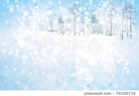 Vector  winter scene with forest background. Winter  snowy landscape. 70288538