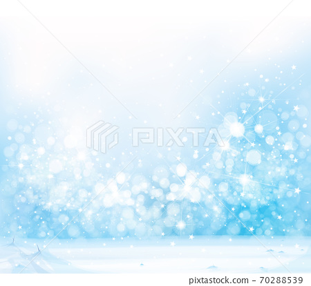 Vector blue,  snowy background for Christmas design. Winter  background. 70288539
